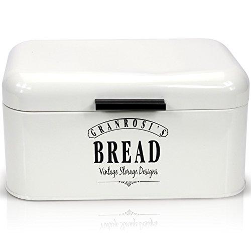 Granrosi Designer Brotkasten - Kompakte Metall Brotbox Im Klassischen 40er Jahre Vintage Stil - Sorgt Für Tagelang Frisches Brot