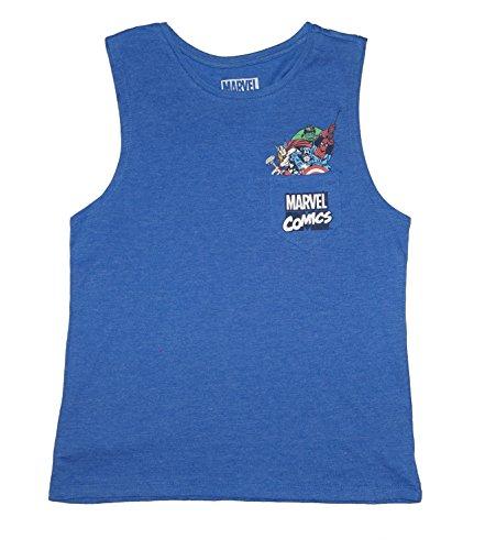 Comics Damen Juniors Pocket Muscle Tank Top (Gro? 11/13) (Marvel-comic-tank)