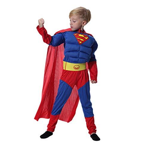 HYYSH Halloween Erwachsene Kinder Film Cartoon Anime Dress Up Cosplay Kostüm Außerordentlicher Held Gedruckt Superman Held Cosplay Kostüm Elternschaft Kostüm (größe : Child L) (Halloween-cartoon-filme Kinder Für)