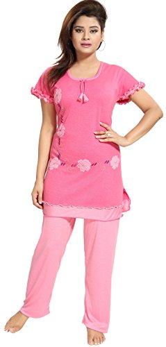 Noty????Women\'s Cotton Hosiery Nightwear(RSNS1, Pink,Free Size)
