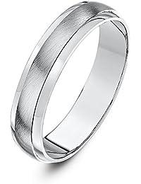 Theia Super Heavy Weight D-Shape with Matt Centre Palladium 950 Wedding Ring