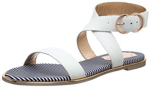 Ted Baker Women's Qereda Ankle Strap Sandals, (White #Ffffff), 8 UK 41 EU
