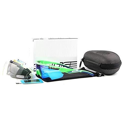 ANSKT Polarized Sports Sonnenbrille mit 5 Wechselgläsern UV400-Schutz-Sportbrille, Unisex 1