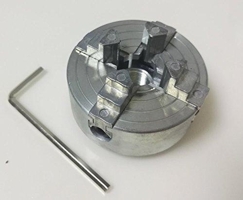 Quattro Jaw Chuck Z011A per metallo Mini tornio M12x1mm filettato indietro 1.8 ~ 56mm / 12 ~ 65mm