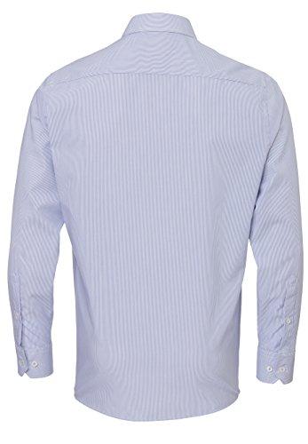 Jupiter -  Camicia classiche  - A righe - Maniche lunghe  - Uomo a strisce blu chiaro