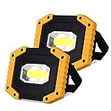 Projecteur LED Rechargeable 30W, T-SUN lumière de Travail, Orientable 180°, IP65 Étanche, 3 Modes, avec Le Port d' USB a et Le Mode de SOS pour Randonnée, Camping, Jardin.(Batterie Incluse)