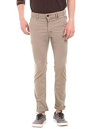 Breakbounce Men's Casual Trouser (8907066043939_Alcadz_28W X 33L_Fossil Brown)