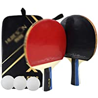 Xianw 2 Premium Set - Juego De Tenis De Mesa con 3 Paletas De Ping Pong,C