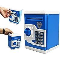 Preisvergleich für szat Funky Qualität Elektronische Spardose Piggy Geld Locker Münzen cashes Auto Einsatz Rechnungen Safe Passwort ATM Bank Saver blau