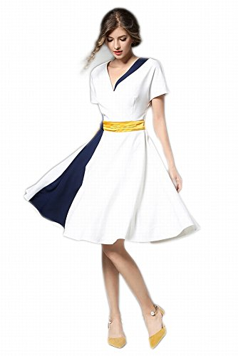 Falda Vestido de Alta Costura Vestido en el Vestido Largo , Blanco , s