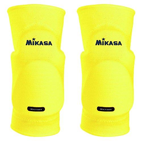 MikasaKobe - Ginocchiere Senior, Unisex, Taglia unica, Giallo neon