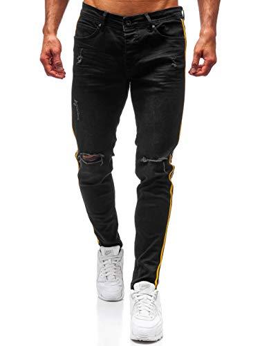 BOLF Herren Jeanshose Basic Casual Style Otantik 1011 Schwarz 32 [6F6] | 05902646939933