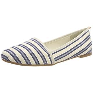Tamaris Damen 24668 Slipper, Blau (Navy Stripes), 39 EU