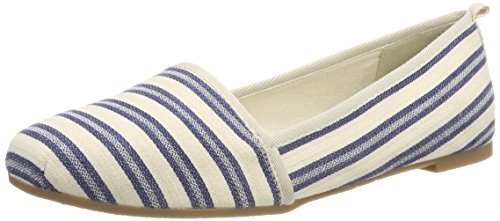 Tamaris Damen 24668 Slipper, Blau (Navy Stripes), 37 EU