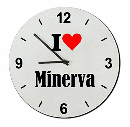 """Exklusive Geschenkidee: Glasuhr \""""I Love Minerva\"""" eine tolle Geschenkidee die von Herzen kommt- Uhr- Weihnachts Geschenktipp"""
