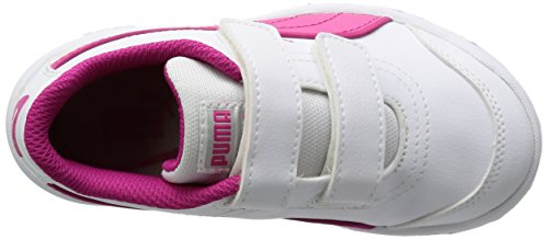 Puma Stepfleex Fs Sl V Kids, Chaussures de running mixte enfant Blanco / Rosa