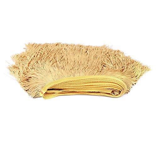 SUPVOX breite Spitzefransenordnungs-Quastenfranse für Kleidungslateinkleidzusätze goldenes 10m -