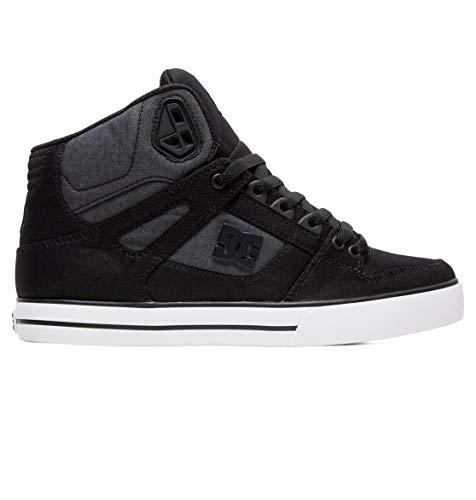 DC Shoes Herren Pure WC TX SE - High-Top Shoes for Men Skateboardschuhe, Black Dark Used, 43 EU (Dc Mens Fashion Sneaker)