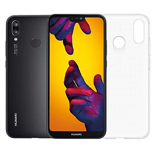 Huawei P20 Lite Smartphone dual SIM,  pi? MicroSD HC 16GB Class 10, Memoria 64 GB, Display 5.84' Full HD+, Doppia fotocamera posteriore 16+2 MP, CPU Octa Core dinamico con IA [Versione Italiana], Nero