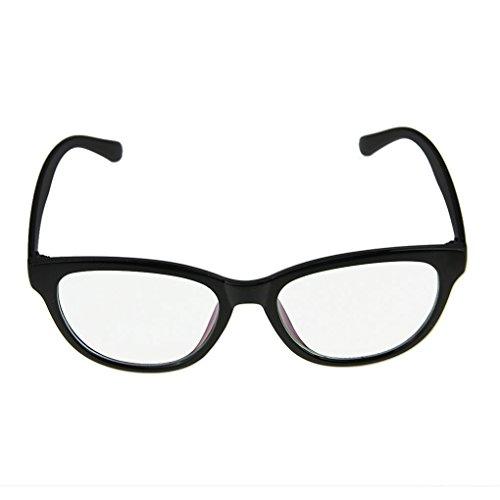 BAO CORE Unisex Retro Wayfare klare Linse Glaeser Unisex Classic Retro Nerd Brille Sonnenbrille...