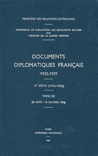 Documents Diplomatiques Francais, 1935: 21 Août - 15 Octobre