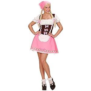 WIDMANN Adultos Disfraz bayerin, Vestido con Petticoat y pañuelo
