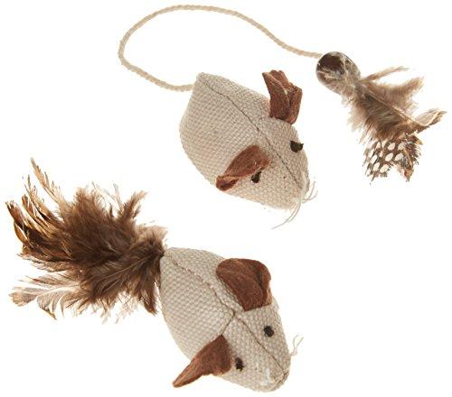 Kerbl Mäuse mit Federn Nature 4,5 cm
