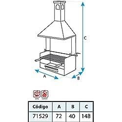 El zorro M263244 - Cajon barbacoa con chimenea y parrilla 150 x 72 x 40
