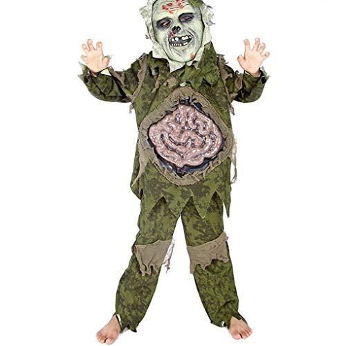 Chunyang Boy Zombie-Geist-Kostüm Halloween Karnevalsparty Horror Cosplay