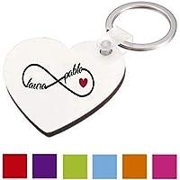 Regalo Original San Valentin/Llavero Infinito Corazon/Personalizado/Pareja/Enamorados/Mujer/Hombre/Chica/Chico/Novia/Novio/Aniversario/Cumpleaños