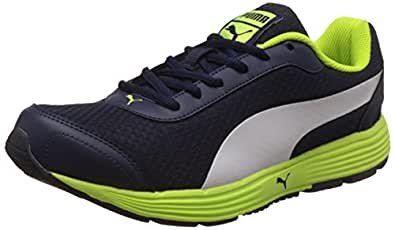 Puma Men's Reef Fashion Dp Peacoat, Safety Yellow and Puma White Running Shoes - 10 UK/India (44.5 EU)