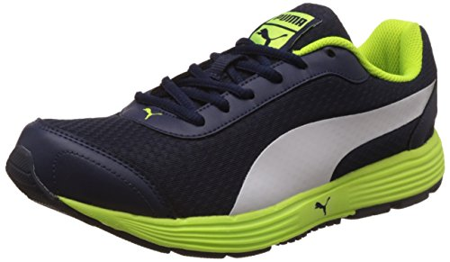 Puma Men's Reef Fashion Dp Peacoat, Safety Yellow and Puma White Running Shoes - 8 UK/India (42 EU)