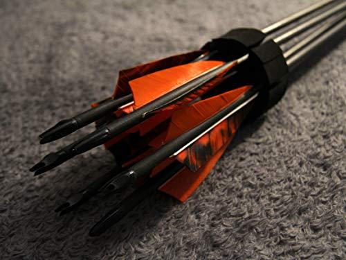 """Geile Pfeile ohne Wicklung - 6er Set Handgemachte Holzpfeile vom Bogenbauer Holzpfeil, Farbverlauf im Schaft, Shield cut Federn 4\"""" Hybrid Spitze - Awesome Arrows"""