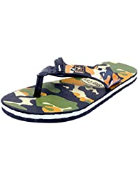91a02ef8625a7 Indistar Men s Step Care Flip Flop House Slipper And Hawaai Chappal-Military  Print