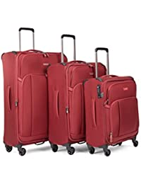 Antler Antler Suitcase Atmosphere, 4 Wheel Spinner, Set of 3 C1, 82cm-106L, Burgundy Maleta, 82 cm, 106…
