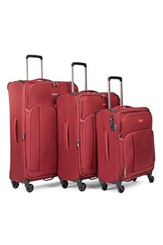 Antler Antler Suitcase Atmosphere, 4 Wheel Spinner, Set of 3 C1, 82cm-106L, Burgundy Maleta, 82 cm, 106 Liters, Rojo (Burgundy)