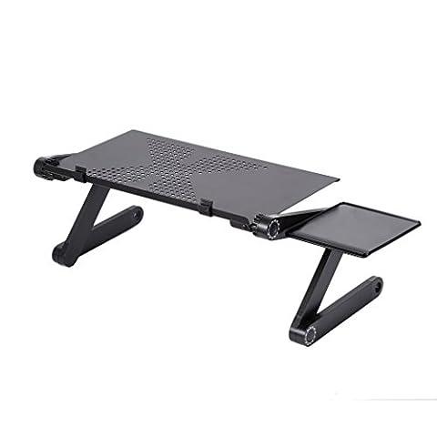 Table Hauteur Ajustable - LESHP Table de Lit Pliable Support Ordinateur