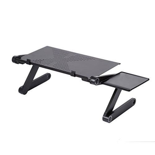 Table de Lit Pliable, LESHP Table de Lit portable et Inclinable Support Ordinateur Tablette PC Notebook Plateau de Petit Déjeuner/Petit Déjeuner au Lit Table Ajustable pour canapé