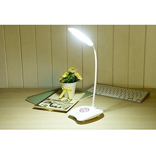 Libro de Luz, LED Lámpara de Escritorio de Lectura Con Luz Nocturna, 3 Niveles Dimmable con Touch Control Botton, Flexible Goosneck, USB Recargable Dormitorio Cama Lámpara de Mesa de Artesanía, Para Niños
