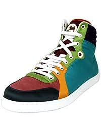 Gucci Zapatillas de Satén Hightop Multicolor 343094 3063 (11.5 U.S. / 11 G)