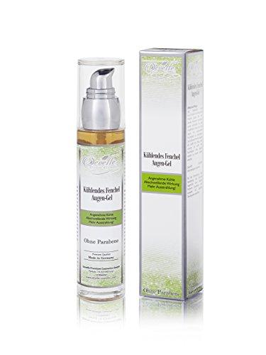 Semi di finocchio Gel Occhi-Maschera anti aging cura 50ml bottiglia in vetro con dosatore dispenser