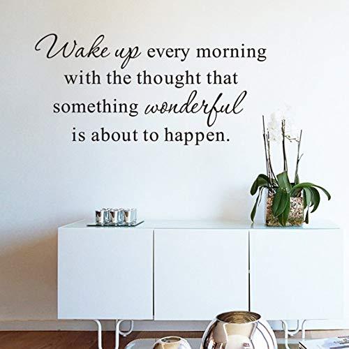 Yzybz Schwarze Sprüche Zeichen Wandaufkleber Für Schlafzimmer Wohnzimmer Klassenzimmer Home Decor Art Wall Decals Pvc Wandbilder
