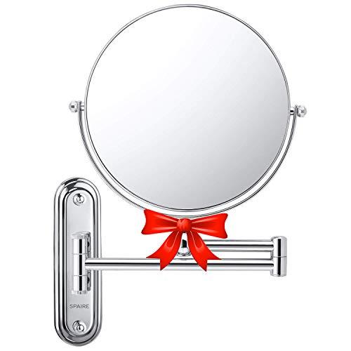spaire Espejo de Baño con Aumento 7X Normal Reversible 8 Pulgadas Redondo...