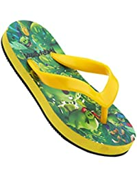 Angry Birds Flip Flops For Boys - Green & Yellow - ABA306