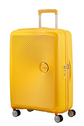 American Tourister - Soundbox Spinner Extensible, 67cm, 71,5/81 L - 3,7 KG, Jaune (Golden Yellow)