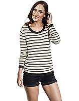 VB Damen Pullover locker gestrickt mit Streifen