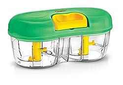 Prestige Double bowl Vegetable cutter, Green, 600 Ml