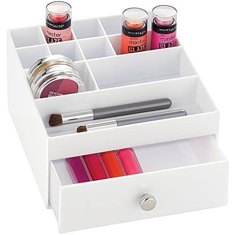 mDesign Organizzatore Cassetti Cosmetici per Trucco, Prodotti di Bellezza -