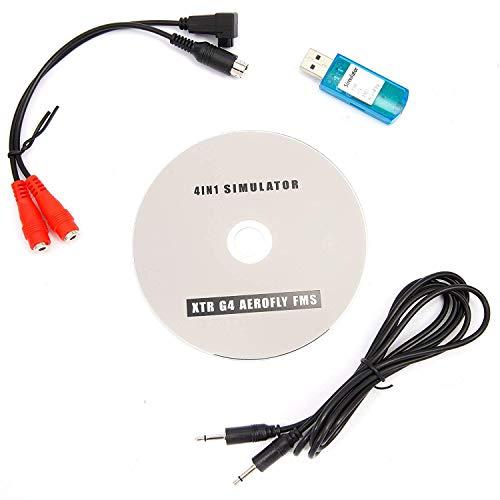 YUNIQUE Deutschland ® 1 stück USB Flight Simulator Kabel für DXE DX6I DX7 JR Futaba RC Esky Spektrum Realflight XTR G4 Aerofly FMS (übung mit rc Controller für Hubschrauber auf pc)