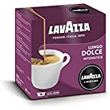 Lavazza A Modo Mio Lungo Dolce, Cápsulas Monodosis de Café Molido, 100% Arábica, Paquete de 36 Cápsulas